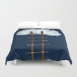 Stairway to the clouds Duvet Cover
