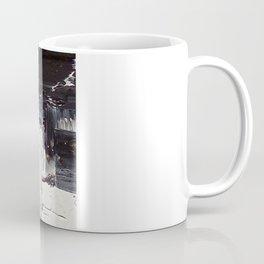 Flatline - black & white abstract painting Coffee Mug