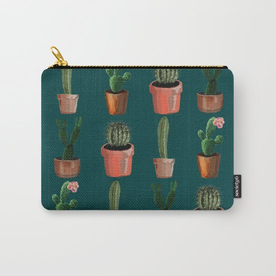Various Cacti Green Carry-All Pouch