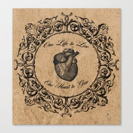 One Life, One Heart Canvas Print