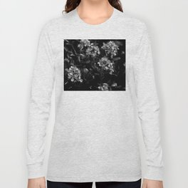 Stopping to Smell the Flowers at the Top of the Mountain Black & White Long Sleeve T-shirt