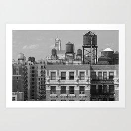 New York City Rooftops Art Print