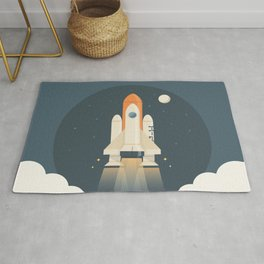 Spaceship Launch Rug