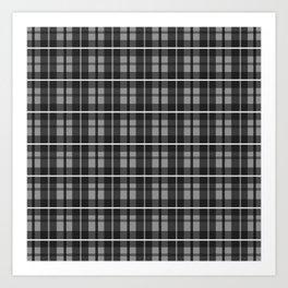 Plaid - Grey Art Print