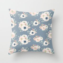 Dog Rose Pattern 3 Throw Pillow