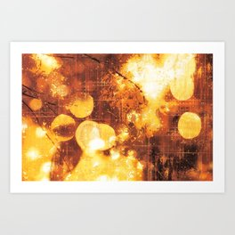 Psychedelic Abstract Bokeh And Flares Art Print