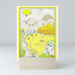 Lemon paradise Mini Art Print