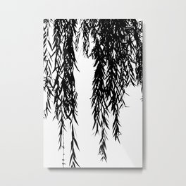 willow bw Metal Print
