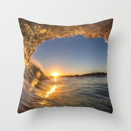 Golden View Throw Pillow