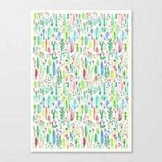 tROPICAL COLORS PLANTS Canvas Print