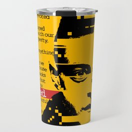 MR. ROBOT FSOCIETY TYPOGRAPHY Travel Mug