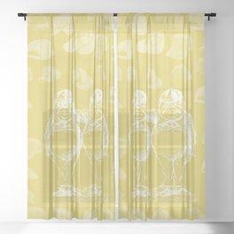 Tweedledum, Tweedledee and Caps Sheer Curtain