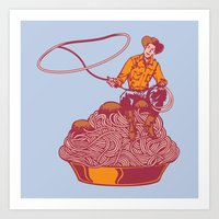 western Art Prints featuring Spaghetti Western by Tom Burns