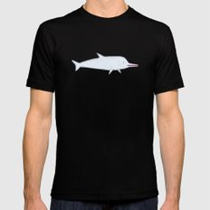 dolphin Black Mens Fitted Tee MEDIUM