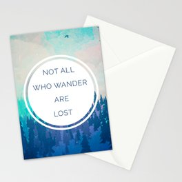 All Who Wander Travel Quote Stationery Cards