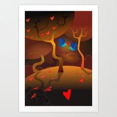 Valentine's Birds Art Print