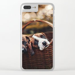 Pup love Clear iPhone Case