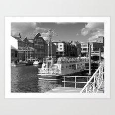 Pleasure boats on the York river Ouse. Art Print