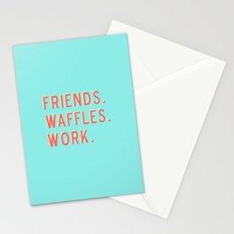 PARKS AND REC FRIENDS WAFFLES WORK Stationery Cards