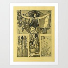 Art Nouveau Witch Art Print