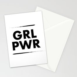 GRL PWR Stationery Cards