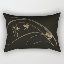 Frog and Orchid Rectangular Pillow