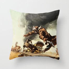 Frank McCarthy painting for Once Upon a Time in the West Throw Pillow