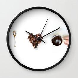 I Love Coffee- saying Wall Clock