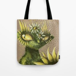 Sun Flower Cat Tote Bag