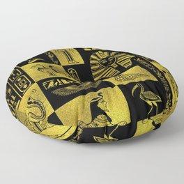 Ancient Egyptian Sphinx Anubis Hieroglyph Floor Pillow