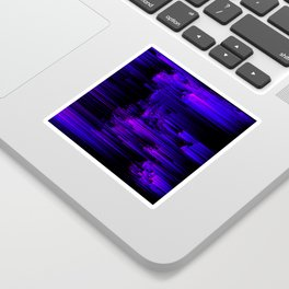 Ultraviolet Light Speed - Abstract Glitch Pixel Art Sticker