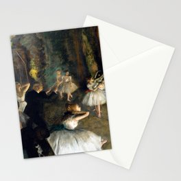 Edgar Degas The Rehearsal of the Ballet Onstage Stationery Cards