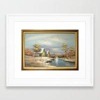 waldo Framed Art Prints featuring There's Waldo by Jonathan Hansen
