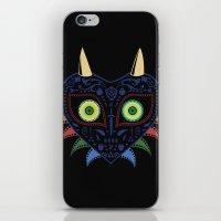 majora iPhone & iPod Skins featuring Dia de los Majora - Legend of Zelda by Katie Halliday