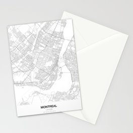Montreal, Canada Minimalist Map Stationery Cards