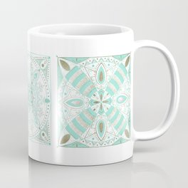Mint and gold ceramic tiles Coffee Mug