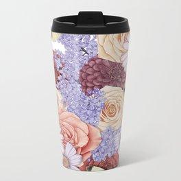 Roses, Lilacs, and Daisies Metal Travel Mug