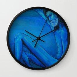 Blue man Wall Clock