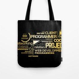 Typography programming Tote Bag
