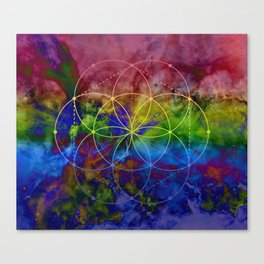 Psychedelic Seed of Life Canvas Print