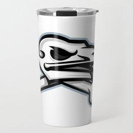 Vulture Skull Mascot Travel Mug