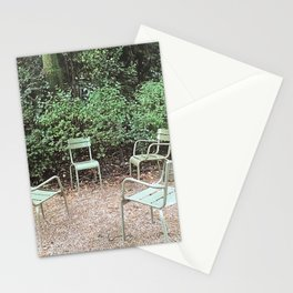 A gathering in the Luxembourg Gardens Stationery Cards