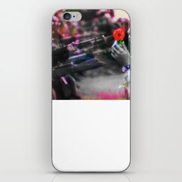 The Flower and the Bayonet Dot Pattern Civil Rights Protest Equality iPhone Skin