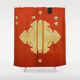 Golden entrance Shower Curtain