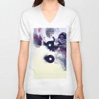 freud V-neck T-shirts featuring freud' ego by ferzan aktas