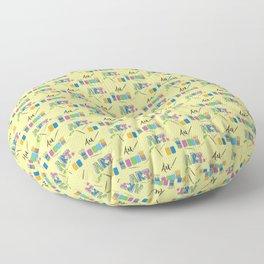Art Supplies Floor Pillow