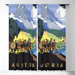 Vintage travel poster Austria Blackout Curtain