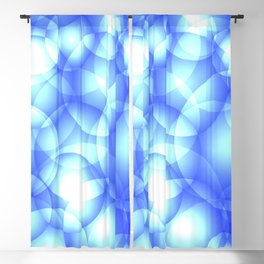 Gentle intersecting blue translucent circles in pastel colors with a heavenly glow. Blackout Curtain