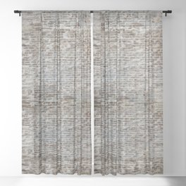 brick wall pattern and texture Sheer Curtain