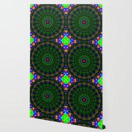Neon cycle mandala Wallpaper